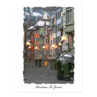 古い町のCristmas ポストカード