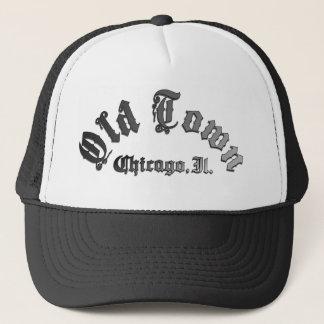 古い町シカゴはトラック運転手の帽子を遊ばします キャップ