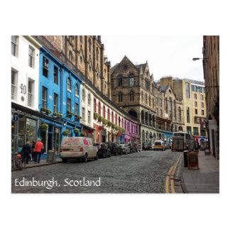 古い町、エジンバラ、スコットランド ポストカード