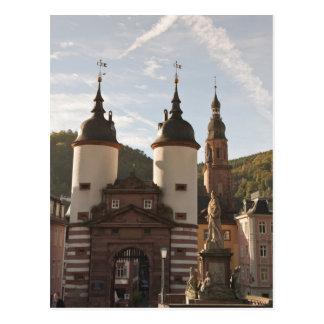 古い町、ハイデルベルク、ドイツのAlte Brucke ポストカード
