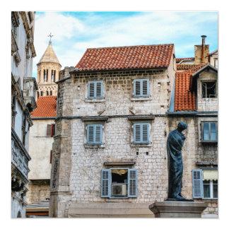 古い町、割れ目、クロアチア カード