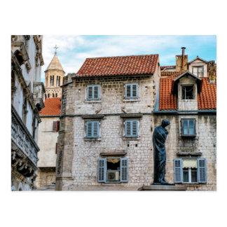 古い町、割れ目、クロアチア ポストカード