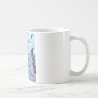 古い町Frigilianaのステップ コーヒーマグカップ