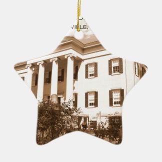 古い知事の大邸宅、Milledgeville、ジョージア セラミックオーナメント