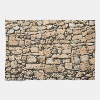 古い石塀の質 キッチンタオル