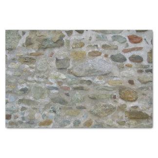 古い石塀 薄葉紙