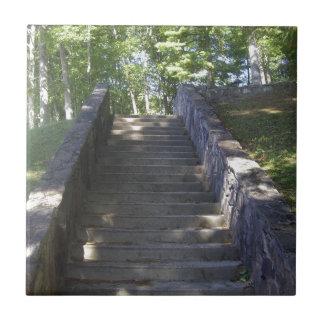 古い石造り階段 タイル