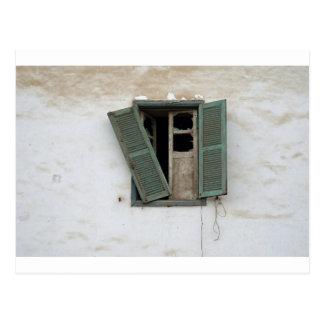 古い窓 ポストカード