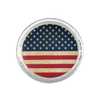 古い米国の旗 指輪