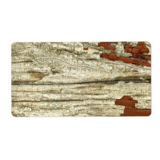 古い納屋のぼろぼろのペンキの皮をむく木製の質のヴィンテージ ラベル
