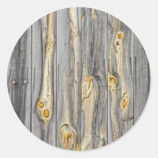 古い納屋のキャラクターが付いている木製パターン ラウンドシール