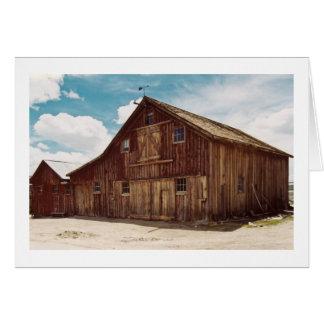 古い納屋の挨拶状 カード
