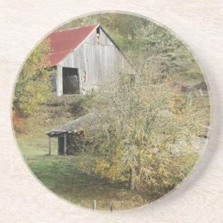古い納屋の田園国の景色の農場 コースター