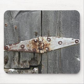 古い納屋木の蝶番 マウスパッド