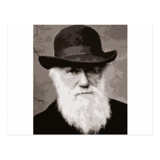 古い紳士として1880年にチャールズ・ダーウィン、 ポストカード