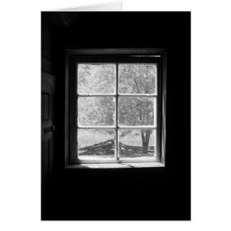 古い船室の窓-私は恋しく思います カード