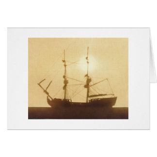 古い船 カード