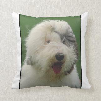 古い英国の牧羊犬の枕 クッション