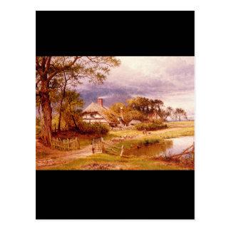 古い英語Cottage',ベンジャーミンWilliams_Landscapes ポストカード