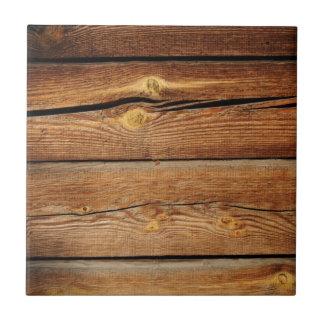 古い茶色の木の壁のデザイン タイル