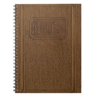 古い茶色の模造のな革行きの、レトロの本の知識 ノートブック
