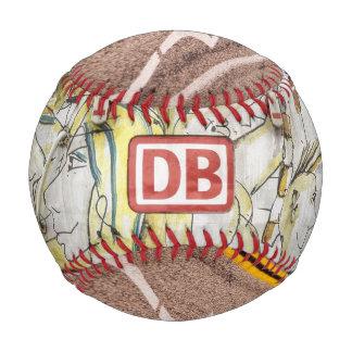 古い落書きのトラック 野球ボール