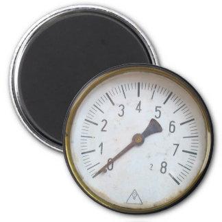 古い蒸気機関圧力メートルのダイヤルの冷蔵庫用マグネット マグネット