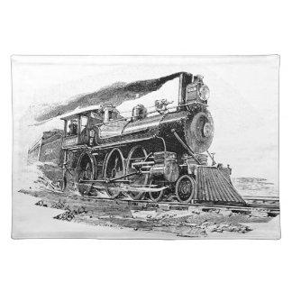 古い蒸気機関車 ランチョンマット