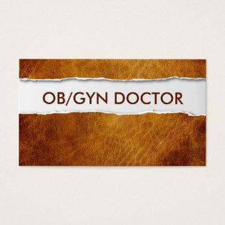 古い裂かれたペーパーOB/GYNの名刺 名刺