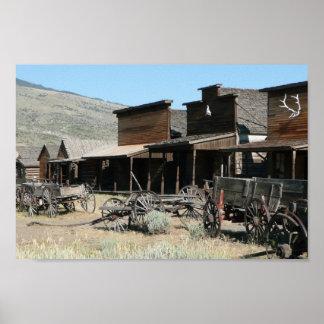 古い西部の村 ポスター