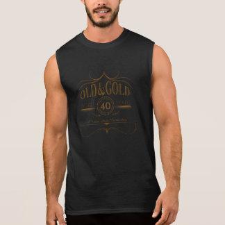 古い誕生日の金ゴールドOGSA 袖なしシャツ