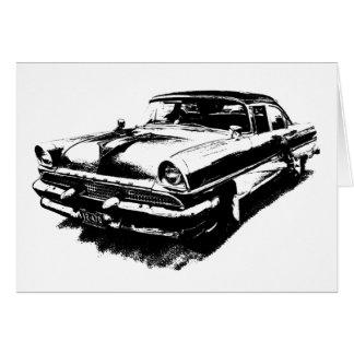古い車車のまれなヴィンテージのムスタング カード