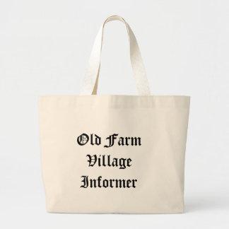 古い農場の村の通報者のバッグ ラージトートバッグ