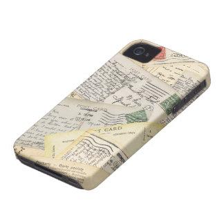 古い郵便はがきのコラージュ Case-Mate iPhone 4 ケース