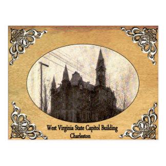 古い郵便はがきを造るウェストヴァージニアの州の国会議事堂 ポストカード