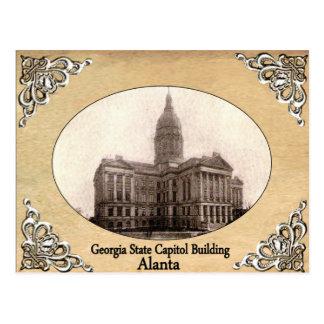 古い郵便はがきを造るジョージアの州の国会議事堂 ポストカード