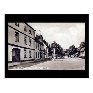 古い郵便はがき-くまのホテル、Woodstock、オックスフォードシャー ポストカード