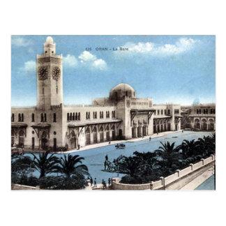 古い郵便はがき-アルジェリア-オラン-駅 ポストカード