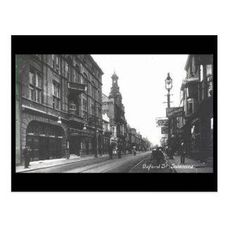 古い郵便はがき-オックスフォードの通り、スワンジ ポストカード