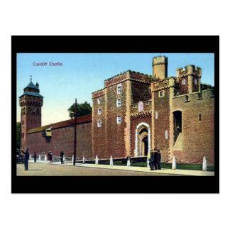 古い郵便はがき、カーディフの城 ポストカード