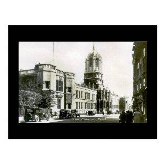 古い郵便はがき、キリスト教会、オックスフォード ポストカード