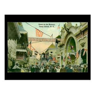 古い郵便はがき-コニーアイランド、ニューヨークシティ ポストカード