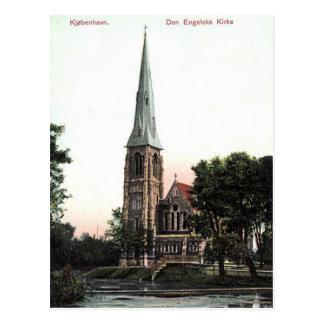 古い郵便はがき-コペンハーゲン、デンマーク ポストカード