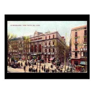 古い郵便はがき、バルセロナ、Gran Teatro del Liceo ポストカード