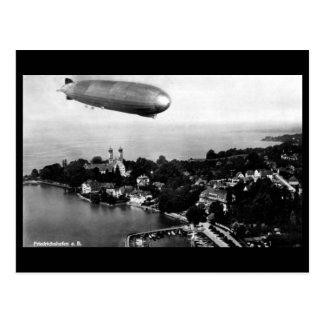 古い郵便はがき-フリードリヒスハーフェン上の飛行船 ポストカード