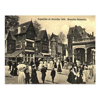 古い郵便はがき-ブリュッセルの博覧会1910年 ポストカード