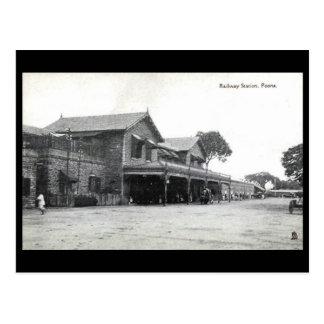 古い郵便はがき-プネー、インド ポストカード