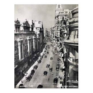 古い郵便はがき-マドリード、スペイン ポストカード