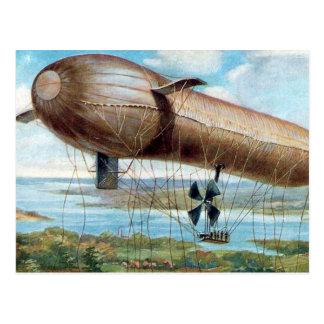 古い郵便はがき-モーターによって運転される戦争の飛行船 ポストカード