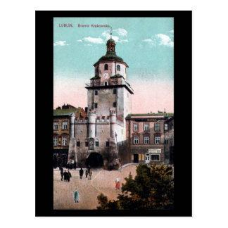 古い郵便はがき-ルブリン、ポーランド ポストカード